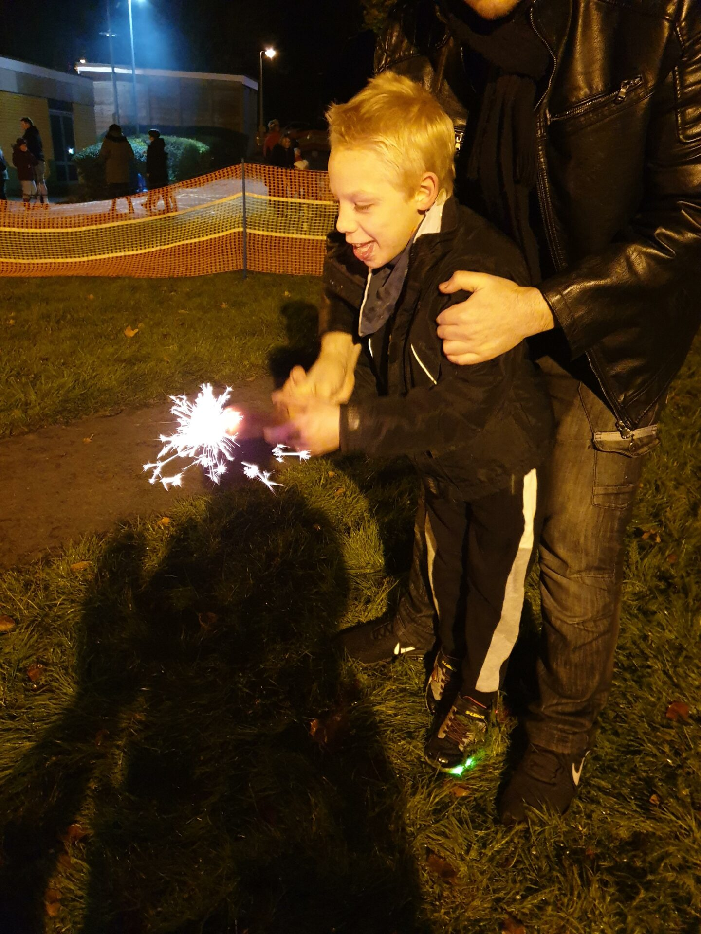 1st Sparkler at Sensory Light Walk